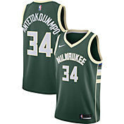Nike Men's Milwaukee Bucks Giannis Antetokounmpo #34 Green Dri-FIT Swingman Jersey