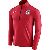 Nike Men's Los Angeles Clippers Dri-FIT Red Element Half-Zip Pullover