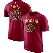 Nike Men's Cleveland Cavaliers LeBron James #23 Dri-FIT Burgundy T-Shirt