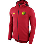 Nike Men's Atlanta Hawks On-Court Red Dri-FIT Showtime Full-Zip Hoodie