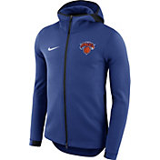 Nike Men's New York Knicks On-Court Royal Dri-FIT Showtime Full-Zip Hoodie