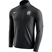Nike Men's Brooklyn Nets Dri-FIT Black Element Half-Zip Pullover