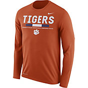 Nike Men's Clemson Tigers Orange Football Sideline Staff Legend Long Sleeve Shirt