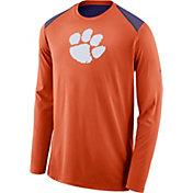 Nike Men's Clemson Tigers Orange Elite Shooter Long Sleeve Shirt