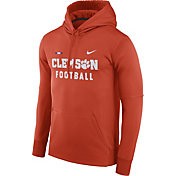 Nike Men's Clemson Tigers Orange Football Sideline Therma-FIT Hoodie