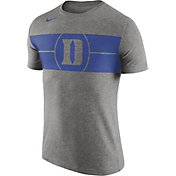 Nike Men's Duke Blue Devils Grey Logo Basketball T-Shirt