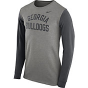 Nike Men's Georgia Bulldogs Grey Heavyweight Elevated Essentials Long Sleeve Shirt