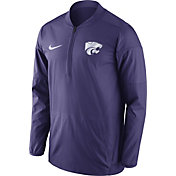 Nike Men's Kansas State Wildcats Purple Lockdown Sideline Half-Zip Jacket