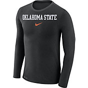 Nike Men's Oklahoma State Cowboys Black Marled Dri-FIT Long Sleeve Shirt
