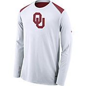 Nike Men's Oklahoma Sooners Elite Shooter White Long Sleeve Shirt