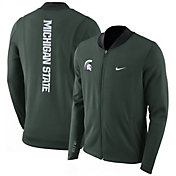 Nike Men's Michigan State Spartans Green Showtime Basketball Full-Zip Jacket