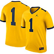 Jordan Men's Michigan Wolverines #1 Maize Legend Football Jersey