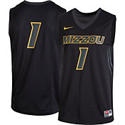 Nike Men's Missouri Tigers #1 Black Replica Basketball Jersey