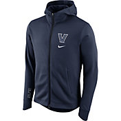 Nike Men's Villanova Wildcats Navy Therma-FIT Full-Zip Elite Basketball Hoodie