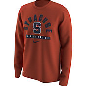 Nike Men's Syracuse Orange Orange Basketball Logo Long Sleeve Shirt
