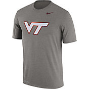 Nike Men's Virginia Tech Hokies Grey Logo Dry Legend T-Shirt