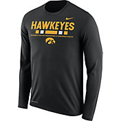 Nike Men's Iowa Hawkeyes Football Sideline Staff Legend Black Long Sleeve Shirt