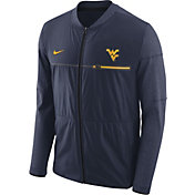 Nike Men's West Virginia Mountaineers Blue Elite Hybrid Football Full-Zip Jacket