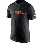 Nike Men's Cincinnati Bengals Essential Wordmark Black T-Shirt