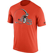 Nike Men's Cleveland Browns Legend Logo Performance Orange T-Shirt