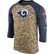Nike Men's Los Angeles Rams Salute to Service 2017 Camouflage Raglan