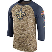 Nike Men's New Orleans Saints Salute to Service 2017 Camouflage Raglan