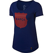 Nike Women's Barcelona Squad Blue T-Shirt