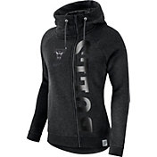 Nike Women's Chicago Bulls Black Full-Zip Hoodie