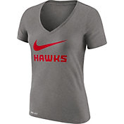 Nike Women's Atlanta Hawks Dri-FIT Legend Grey V-Neck T-Shirt