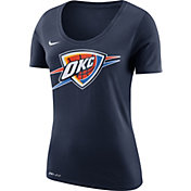 Nike Women's Oklahoma City Thunder Dri-FIT Navy Logo T-Shirt