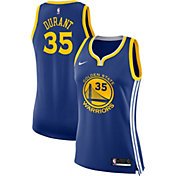 Nike Women's Golden State Warriors Kevin Durant #35 Royal Dri-FIT Swingman Jersey