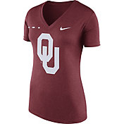 Nike Women's Oklahoma Sooners Crimson Stripe Bar V-Neck T-Shirt