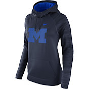 Nike Women's Michigan Wolverines Blue All Time Therma-FIT Hoodie