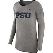 Nike Women's Penn State Nittany Lions Grey Cozy Long Sleeve Shirt