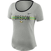 Nike Women's Oregon Ducks Grey Strike Slub Performance T-Shirt
