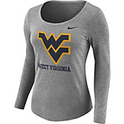 Nike Women's West Virginia Mountaineers Grey Logo Tri-Blend Long Sleeve Shirt