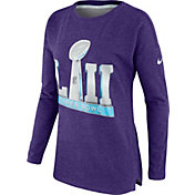 Nike Women's Super Bowl LII Cozy Purple Long Sleeve Top