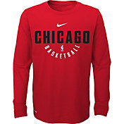 Nike Youth Chicago Bulls Dri-FIT Red Practice Long Sleeve Shirt