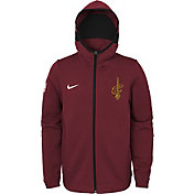 Nike Youth Cleveland Cavaliers On-Court Burgundy Dri-FIT Showtime Full-Zip Hoodie