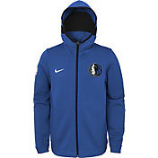 Nike Youth Dallas Mavericks On-Court Blue Dri-FIT Showtime Full-Zip Hoodie