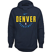 Nike Youth Denver Nuggets Therma-FIT Navy Practice Performance Hoodie