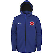 Nike Youth Detroit Pistons On-Court Royal Dri-FIT Showtime Full-Zip Hoodie