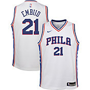 Nike Youth Philadelphia 76ers Joel Embiid #21 White Dri-FIT Swingman Jersey