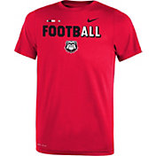Nike Youth Georgia Bulldogs Red FootbALL Sideline Legend T-Shirt