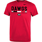 Nike Youth Georgia Bulldogs Red Football Staff Legend T-Shirt