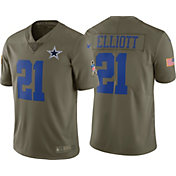 Nike Youth Home Game Salute to Service 2017 Dallas Cowboys Ezekiel Elliott #21 Jersey