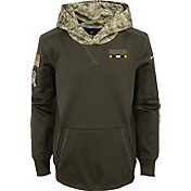 Nike Youth Green Bay Packers Salute to Service 2017 Therma-FIT Pullover Hoodie