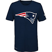 Nike Youth New England Patriots Legend Logo Navy Performance T-Shirt