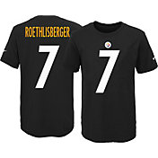 Nike Youth Pittsburgh Steelers Ben Roethlisberger #7 Black T-Shirt