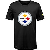 Nike Youth Pittsburgh Steelers Legend Logo Black Performance T-Shirt